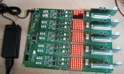Burn-in drive electronics under test